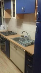 A kitchen or kitchenette at Mieszkanie Konin Noclegi