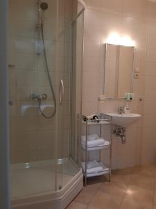 A bathroom at Preliudija