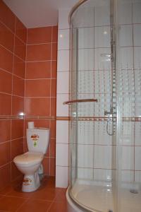 Vonios kambarys apgyvendinimo įstaigoje Alongės Guest House