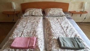 Кровать или кровати в номере Apartment Karamzina 43