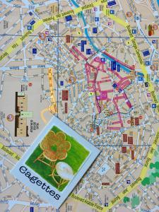 The floor plan of Les Cagettes en Ville