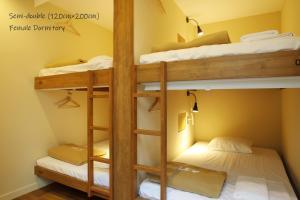 Tempat tidur susun dalam kamar di The Lower East Nine Hostel