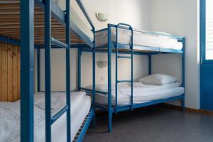 Ein Etagenbett oder Etagenbetten in einem Zimmer der Unterkunft Mont-Fort Swiss Lodge