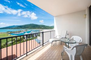 A balcony or terrace at Ocean View Studio 49A