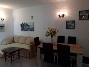 Dining area at the apartment
