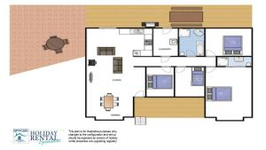 The floor plan of Velleron - short walk to Exeter general store