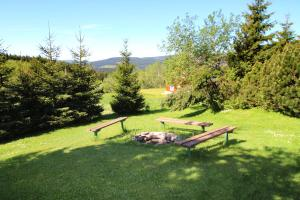 Ein Garten an der Unterkunft Pension Věra