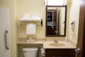 A bathroom at My Place Hotel-North Las Vegas, NV