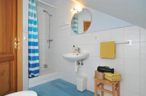 Koupelna v ubytování Rodinné ubytování Debrné