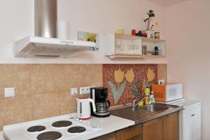 Kuchyň nebo kuchyňský kout v ubytování Rodinné ubytování Debrné