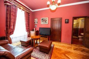 Гостиная зона в Grand Hotel Praha