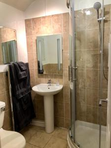 A bathroom at Butchers Arms