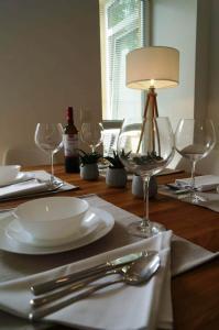 Restaurace v ubytování Vienna Apartment Gutarra II