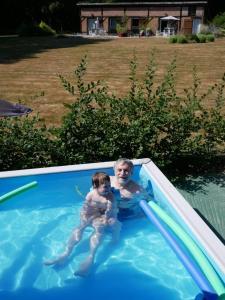 The swimming pool at or near Domaine de La Mésange