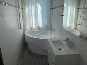 A bathroom at Botel Gracia
