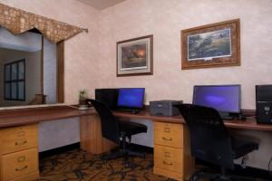 A television and/or entertainment center at Arrowwood Resort at Cedar Shore