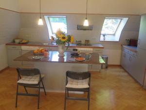 Kuchyň nebo kuchyňský kout v ubytování Schoenbrunn Gardens Deluxe Apartment