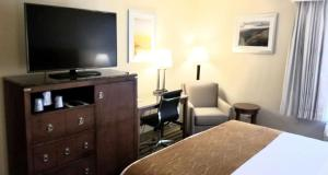 A television and/or entertainment center at Best Western North Roanoke