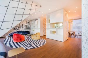 Ein Sitzbereich in der Unterkunft Luxury Residence near Parlament in @YourVienna