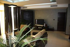 A television and/or entertainment center at Garden of Eden Complex