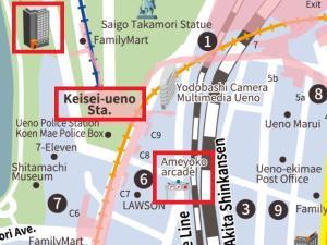 The floor plan of APA Hotel Keisei Ueno Ekimae