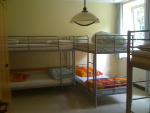 Ein Etagenbett oder Etagenbetten in einem Zimmer der Unterkunft Hostel Flensburg