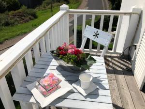 Ein Balkon oder eine Terrasse in der Unterkunft Haus Grünewald Unsleben