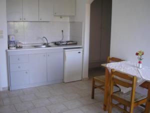 Η κουζίνα ή μικρή κουζίνα στο Διαμερίσματα Δήμητρα