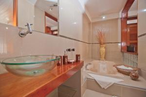 A bathroom at Hotel Cabaña Quinta