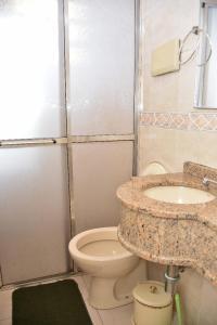 A bathroom at Pousada da Cachoeira