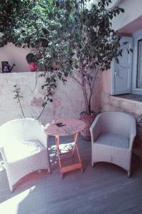 A seating area at Studio Lefaki