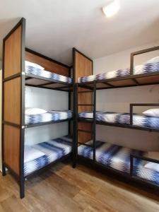 A bunk bed or bunk beds in a room at Bahia Pelô Hostel