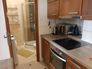 Kuchnia lub aneks kuchenny w obiekcie Euro-Room Rooms & Apartments
