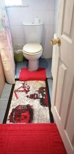 A bathroom at Carib Inn
