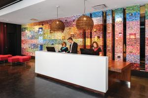 The lobby or reception area at Alt Hotel Ottawa