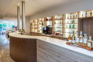 The lounge or bar area at Quality Hotel Lippstadt