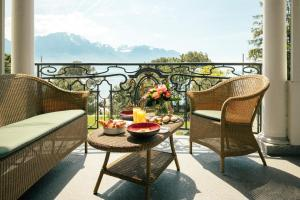 A balcony or terrace at Grand Hotel Suisse Majestic, Autograph Collection