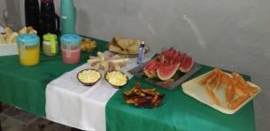 Opções de café da manhã disponíveis para hóspedes em Pousada do Guerreiro