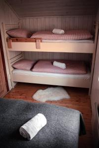 A bunk bed or bunk beds in a room at Phillipshaugen Lodge