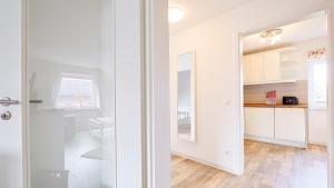 Ein Badezimmer in der Unterkunft Ferienwohnung Zollstraße 2. Etage