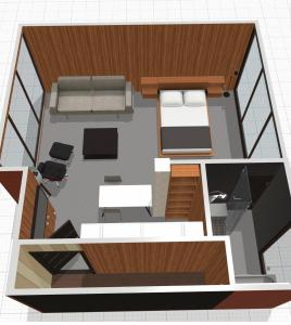 The floor plan of 555 House