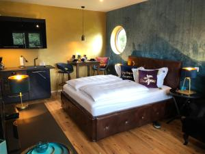 Ein Bett oder Betten in einem Zimmer der Unterkunft Haus Grünewald Unsleben