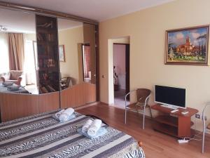 Телевизор и/или развлекательный центр в Милана Гостевой Дом