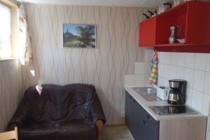 Küche/Küchenzeile in der Unterkunft Pension Gottesgrün