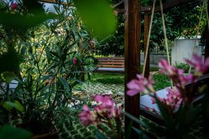 A garden outside Guest House Aleksandra