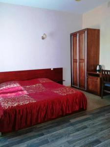 Кровать или кровати в номере Гостиница Градец