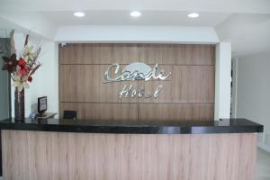 The lobby or reception area at Conde Hotel