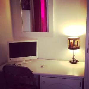 A television and/or entertainment center at B&B Giulia