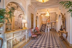 The lobby or reception area at Hotel Armonia