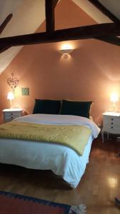 Un ou plusieurs lits dans un hébergement de l'établissement Les terrasses